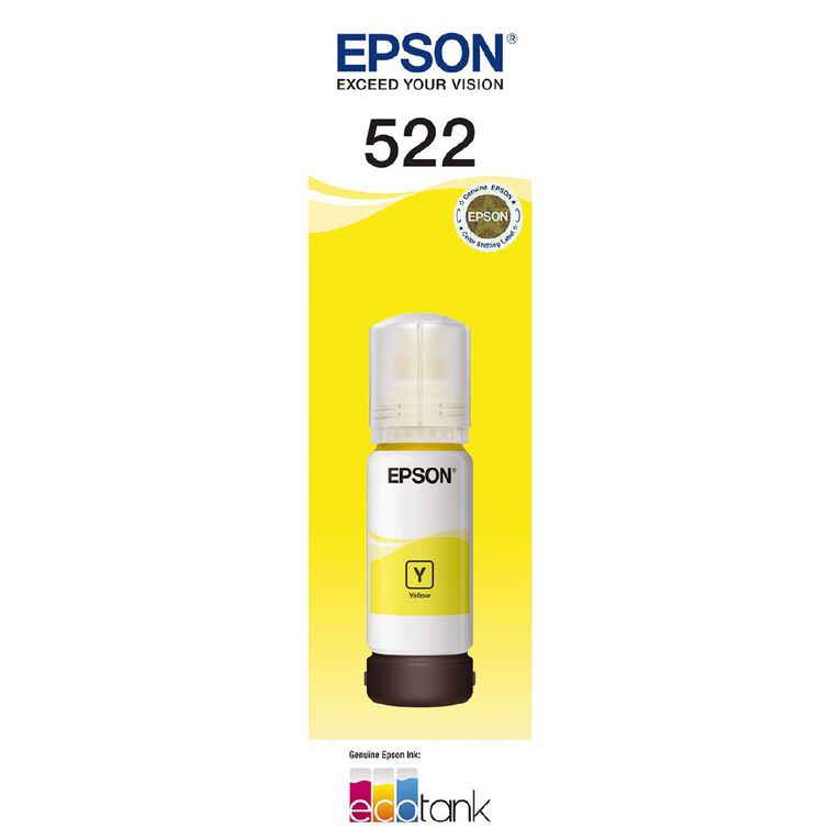 Epson Ink T522 Yellow 65ml (7500 Pages), , hi-res