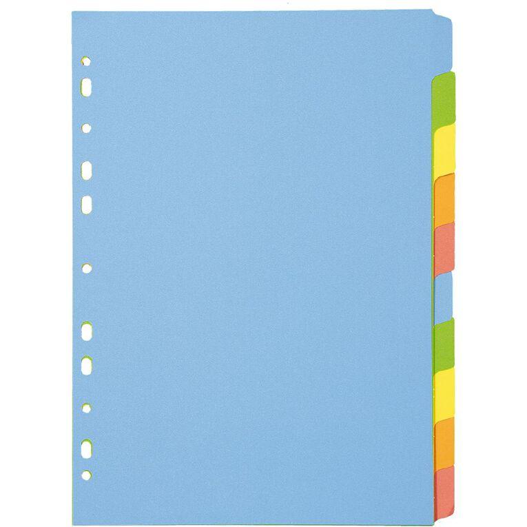WS Dividers Cardboard 10 Tab A4, , hi-res