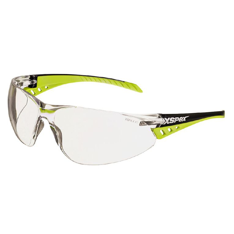XSPEX Safety Spec Lens Wraparound Style With Soft Rubber Sidearms Clear, , hi-res