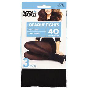 Razzamatazz Lightweight 40D Opaque Tights 3 Pack