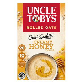 Uncle Tobys Quick Oats Creamy Honey 350g