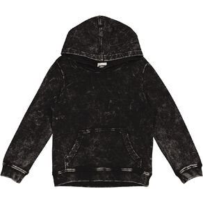 Young Original Acid Wash Pull Over Hoodie