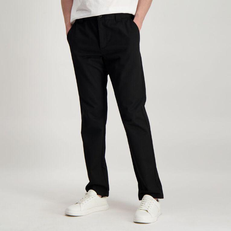 H&H Men's Flat Front Classic Pants, Black, hi-res