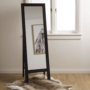 Living & Co Mirror Rexford Easel Black 50 x 160cm Black