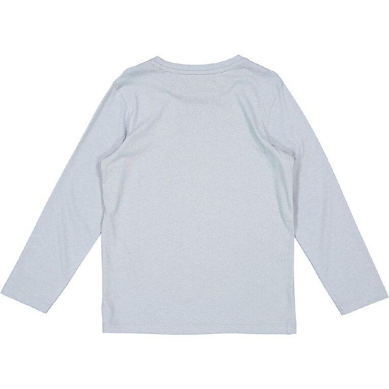Young Original Long Sleeve Print Tee, Blue Light STACK, hi-res