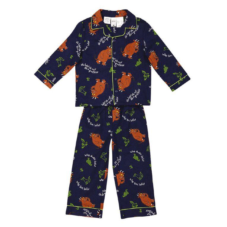 Gruffalo Kids' Flannalette Pyjamas, Navy, hi-res