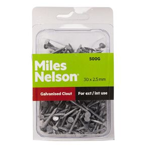 Miles Nelson Galvanised Clout Nails 30mm x 2.50mm