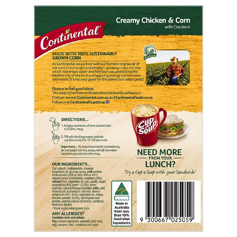Continental Cup A Soup Creamy Chicken and Corn 2 Pack, , hi-res