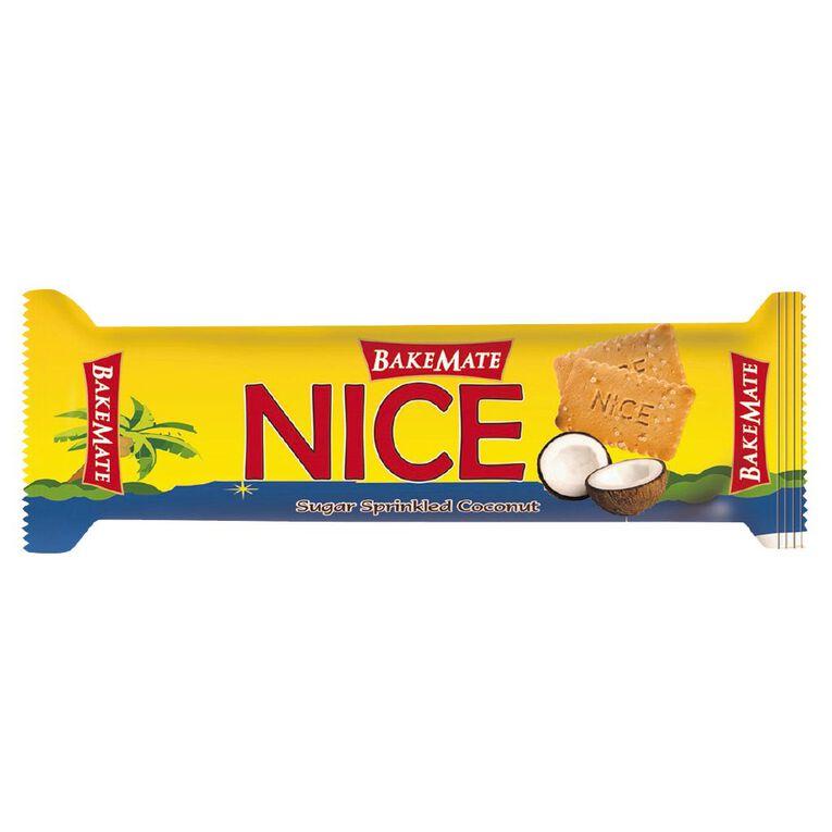 Bakemate Nice Sugar Sprinkled Coconut Biscuits 175g, , hi-res
