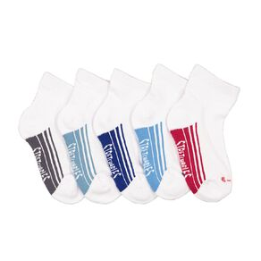 Rio Boys' Stretchables Quarter Crew Socks 5 Pack