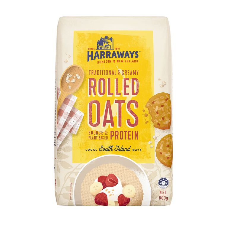 Harraways Rolled Oats Delicious Hearty 800g, , hi-res