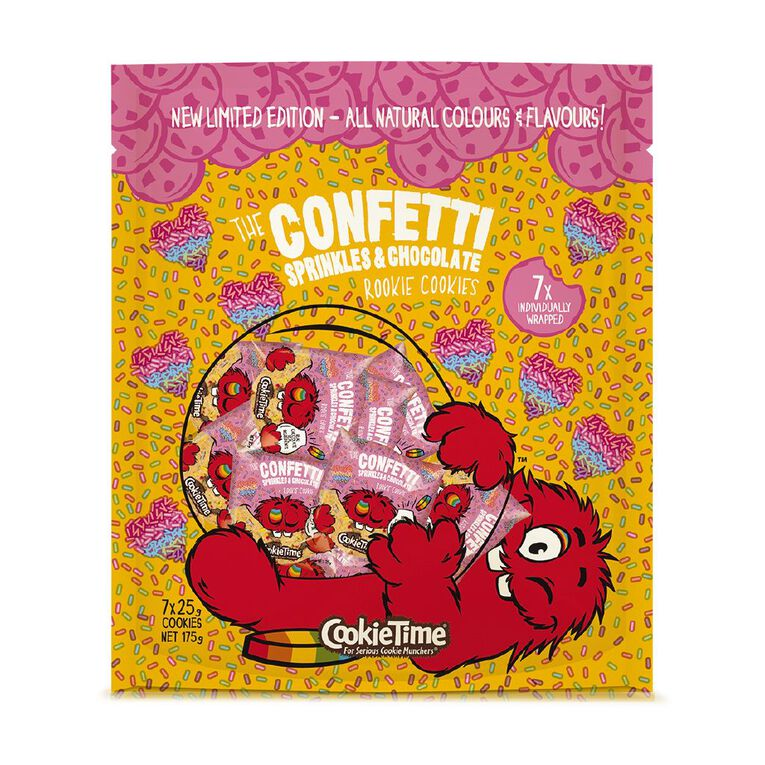 Cookie Time Confetti Sprinkles & Choc 7 Pack 175g, , hi-res