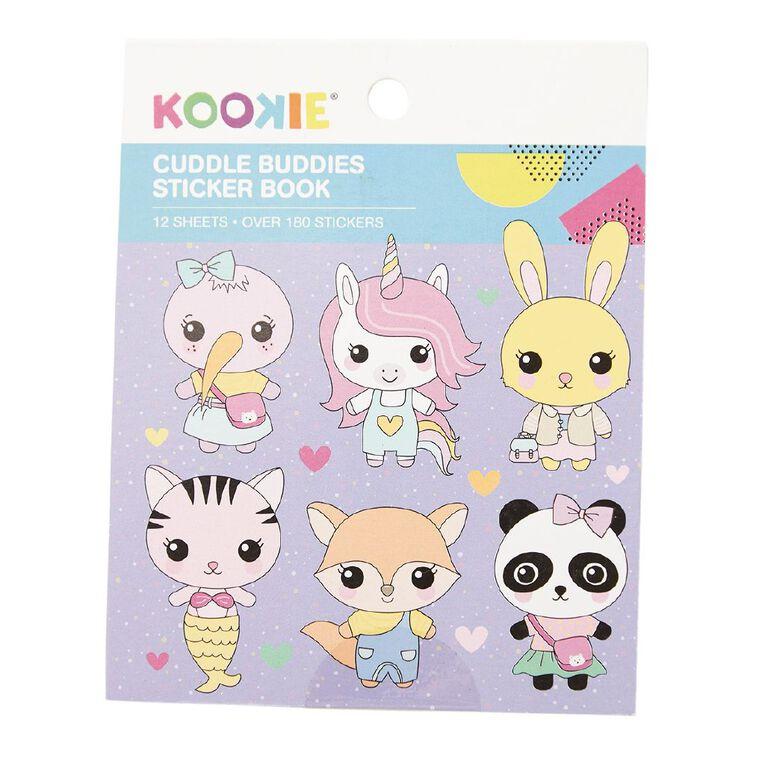 Kookie Mini Sticker Book 12 Sheets Cuddle Buddies, , hi-res