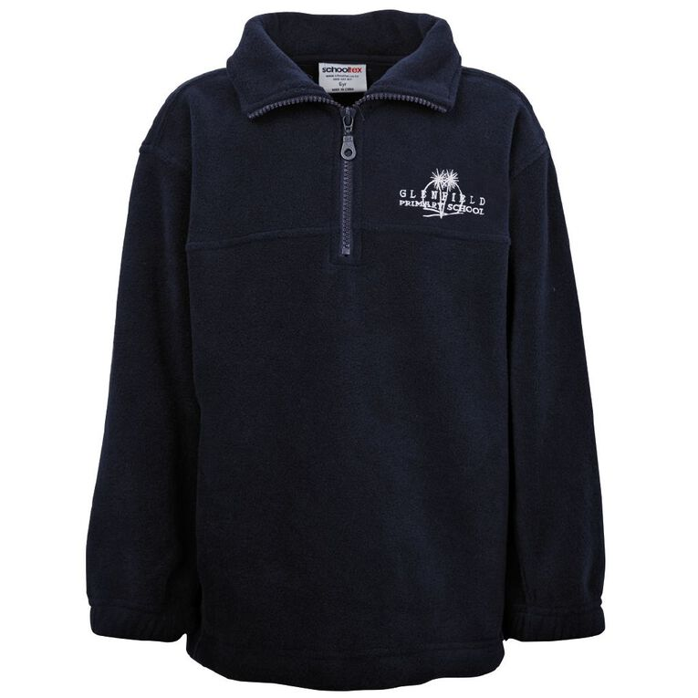 Schooltex Glenfield Polar Fleece Top with Embroidery, Navy, hi-res