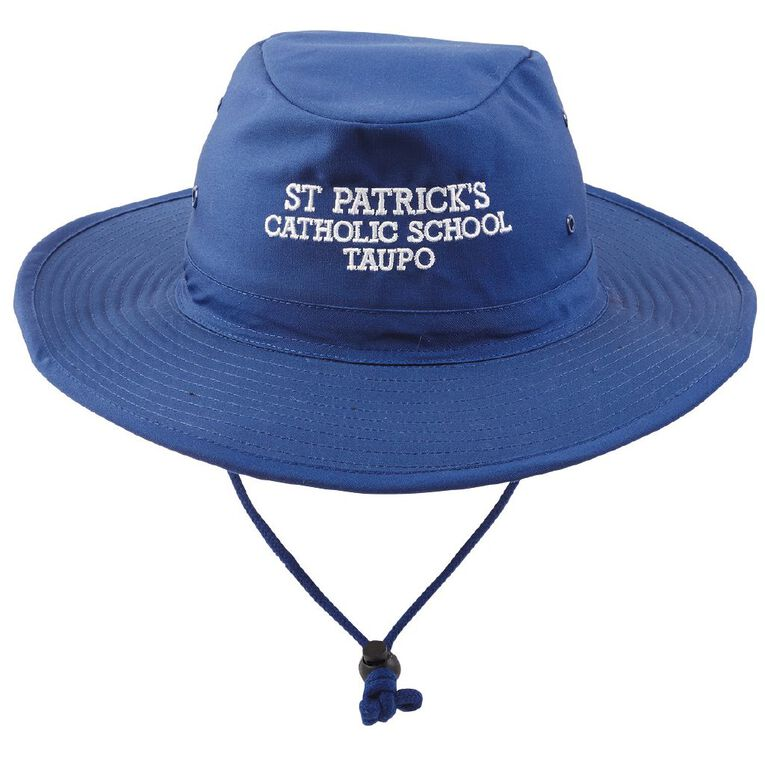 Schooltex St Patrick's Taupo Aussie Hat with Embroidery, Royal, hi-res