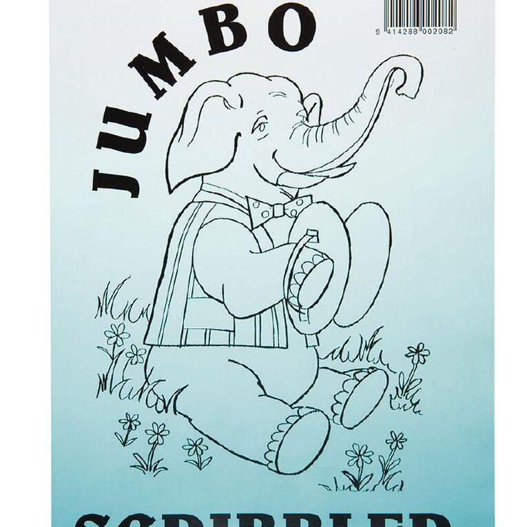 Jumbo Scribbler Jotter Pad 120 Leaf White A4, , hi-res