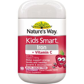 Nature's Way Kids Smart Iron + Vitamin C Chews 50s