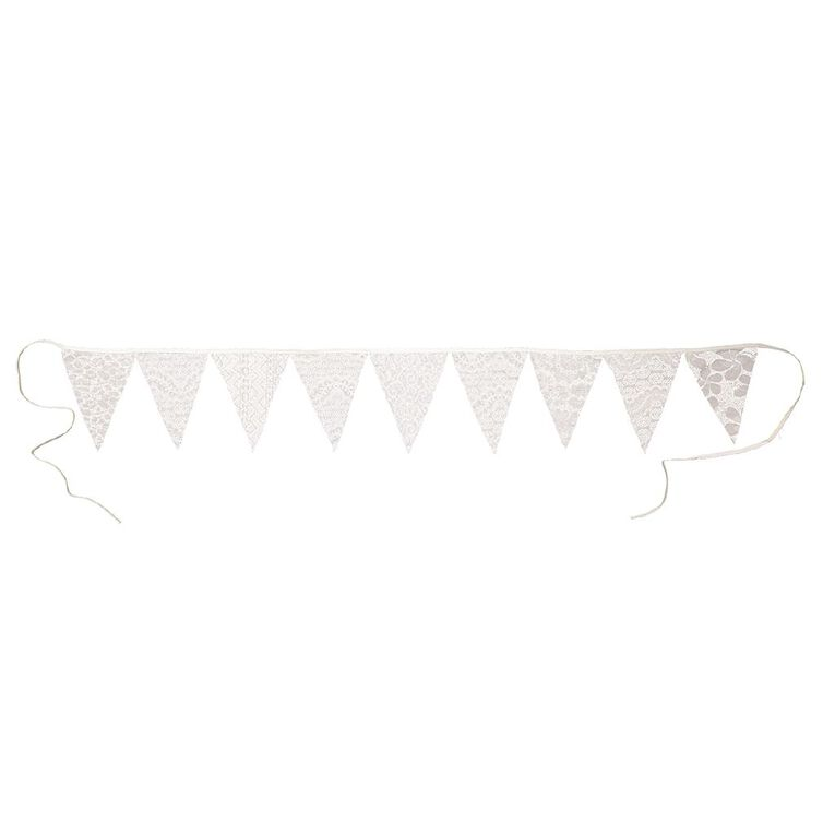 Party Inc Lace Bunting Polyester 9 Flags, , hi-res