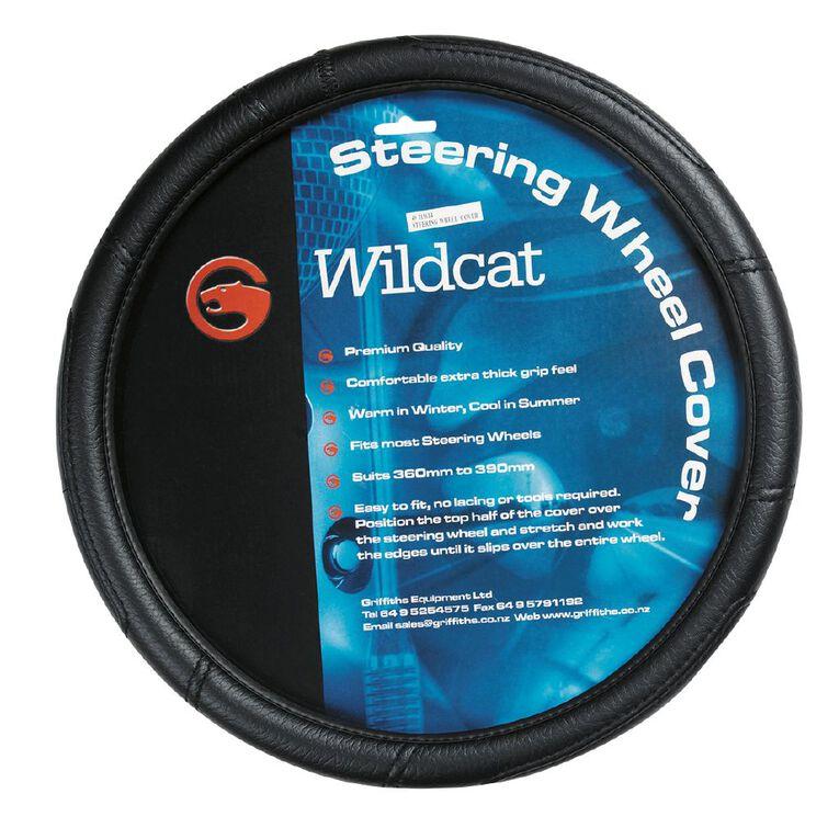 Wildcat Leather Look Steering Wheel Cover, , hi-res