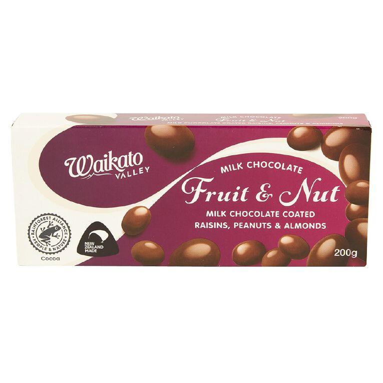 Waikato Valley Chocolates Fruit & Nut 200g, , hi-res