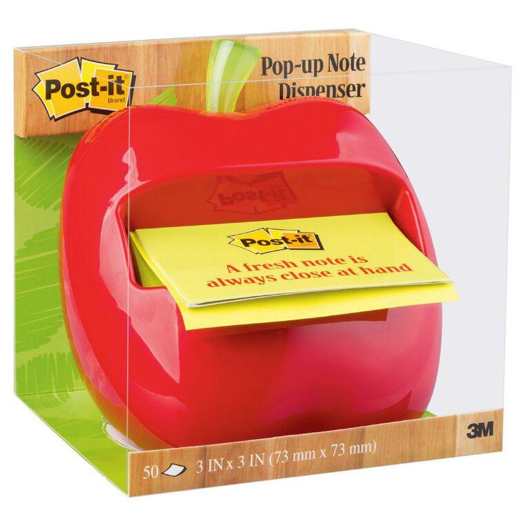 Post-It Apple Pop-Up Note Dispenser Apl-330 76mm x 76mm Multi-Coloured, , hi-res