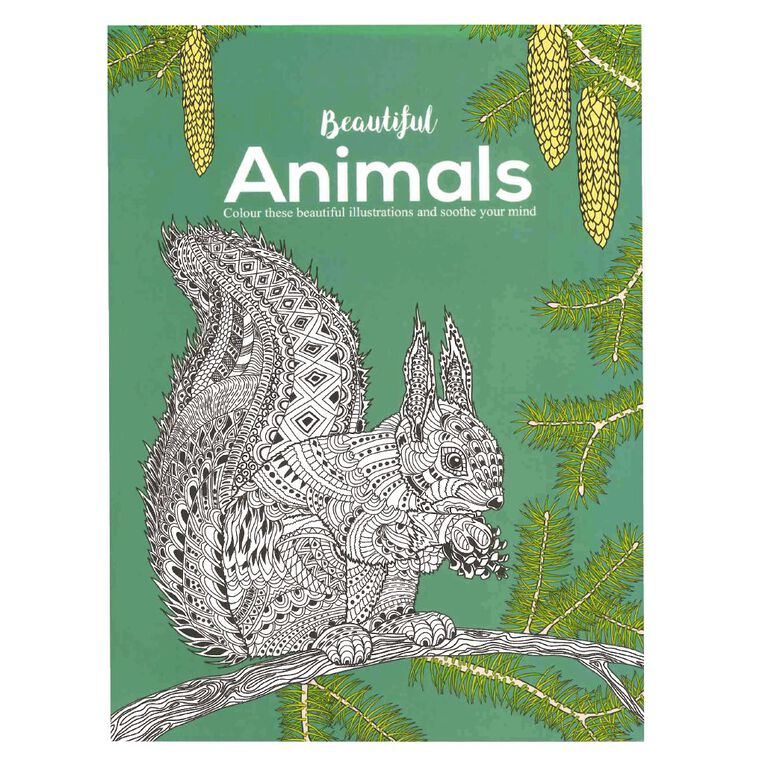 Beautiful Animals Colouring Book, , hi-res