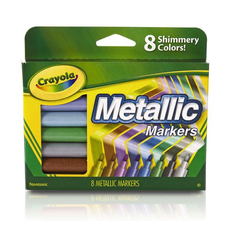 Crayola Metallic Markers 8 Pack, , hi-res