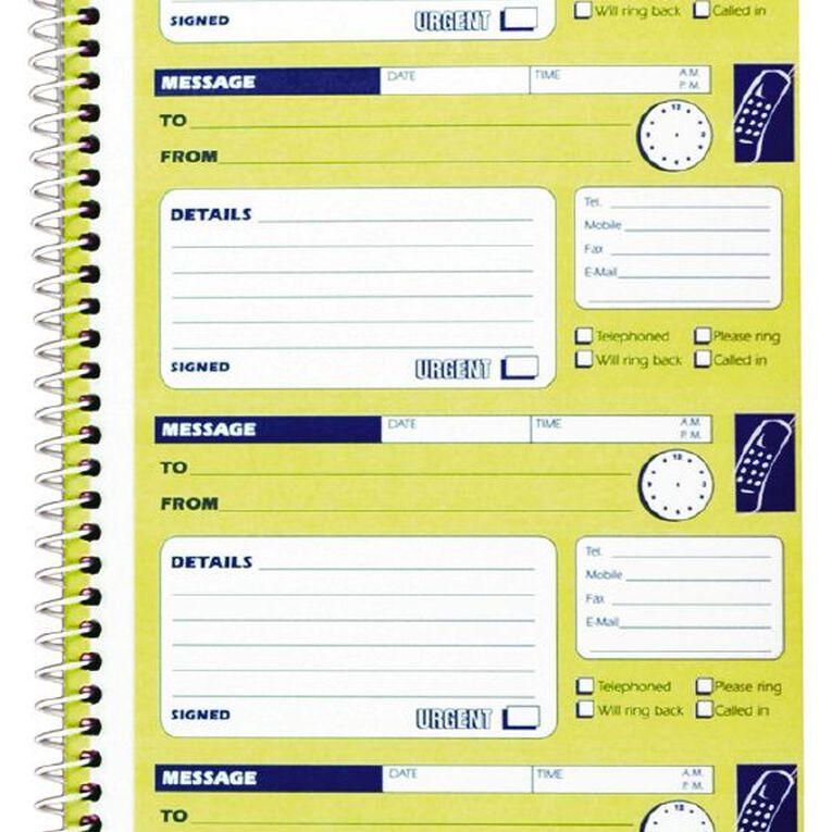 Spirax Telephone Message Book 550 Ncr Yellow, , hi-res