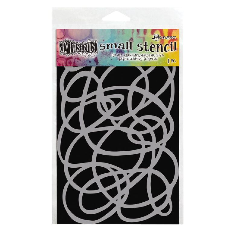 Ranger Dylusions Stencil Squiggle Small, , hi-res