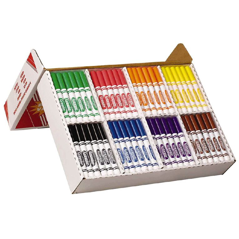 Crayola Classic Ultra-Clean Washable Markers Classpack 200 Pack, , hi-res