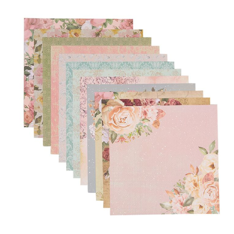 Uniti Designer Paper 12x12in 12 Sheets Floral, , hi-res