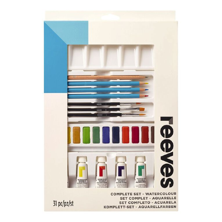 Reeves Watercolour Complete Set 75ml, , hi-res