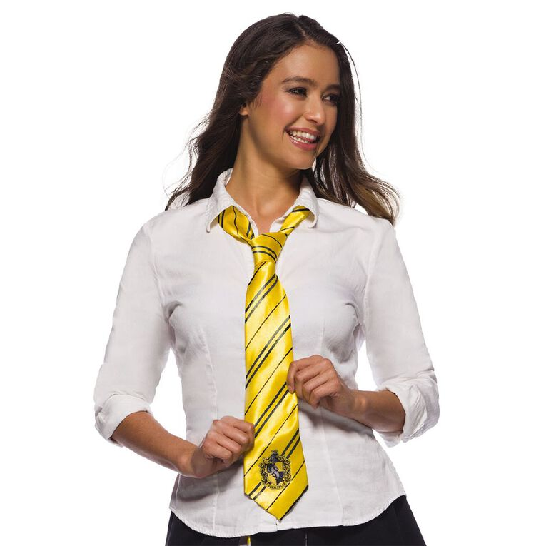 Harry Potter Hufflepuff House Crest Tie Yellow One Size, , hi-res