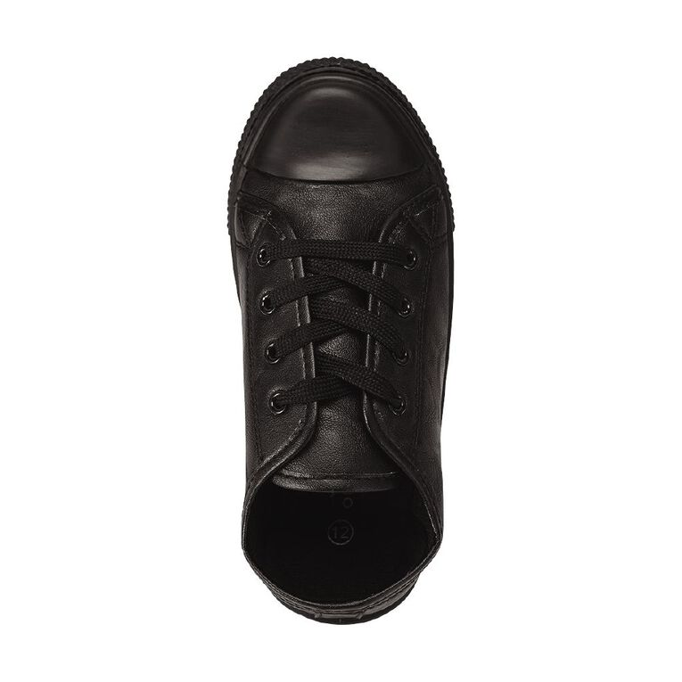 Young Original Kids' Finn PU Low Canvas Shoes, Black, hi-res