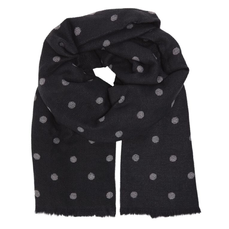 H&H Suz Reverse Scarf, Charcoal, hi-res