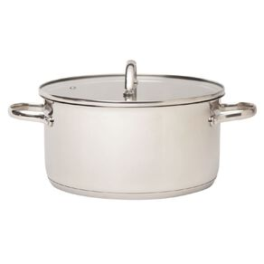 Arcosteel Chefs Choice Casserole Pot  Stainless Silver 24cm