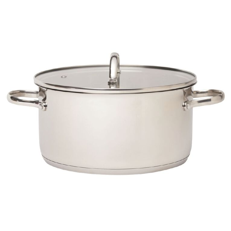 Arcosteel Chefs Choice Casserole Pot  Stainless Silver 24cm, , hi-res