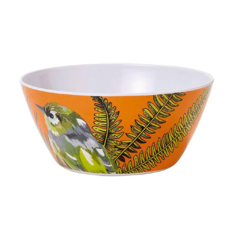 Living & Co Printed Melamine Bowl Finch Multi-Coloured, , hi-res