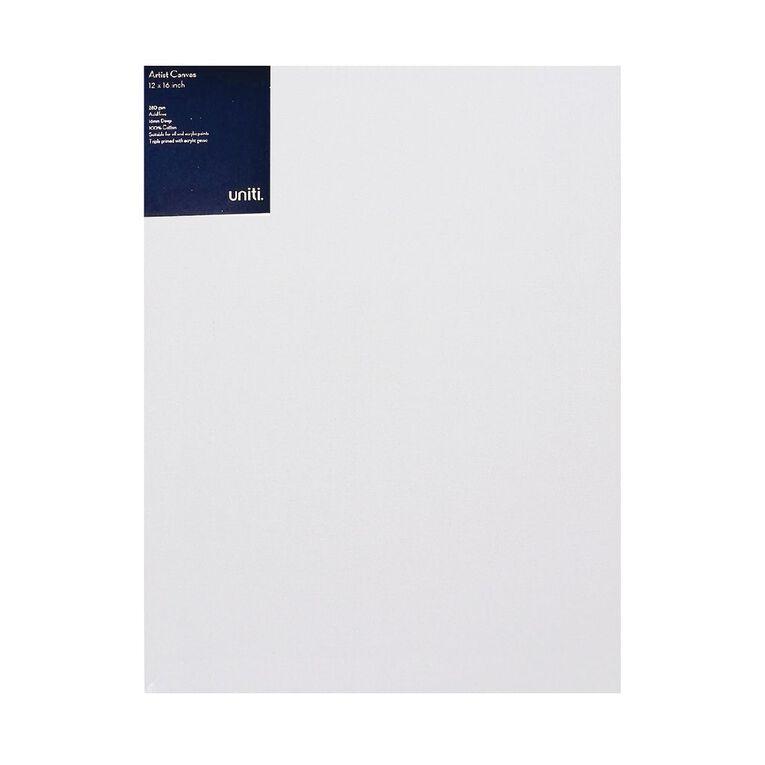 Uniti Blank Canvas 280gsm (12in x 16in) 30cm x 40cm, , hi-res