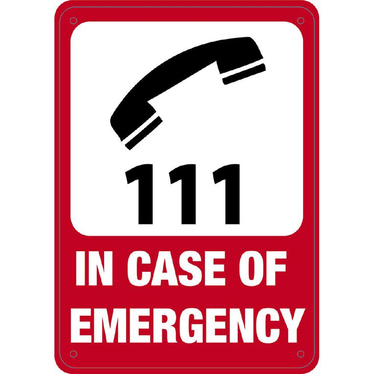 WS In Case of Emergency Sign Small 340mm x 240mm, , hi-res