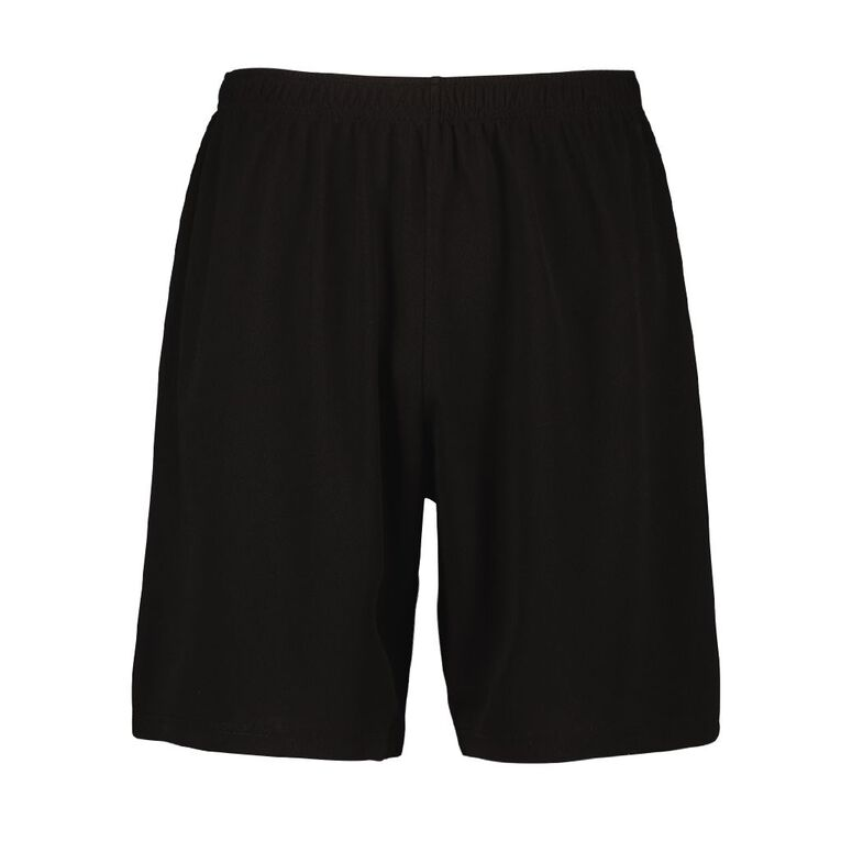 Active Intent Men's Eyelet Shorts, Black, hi-res