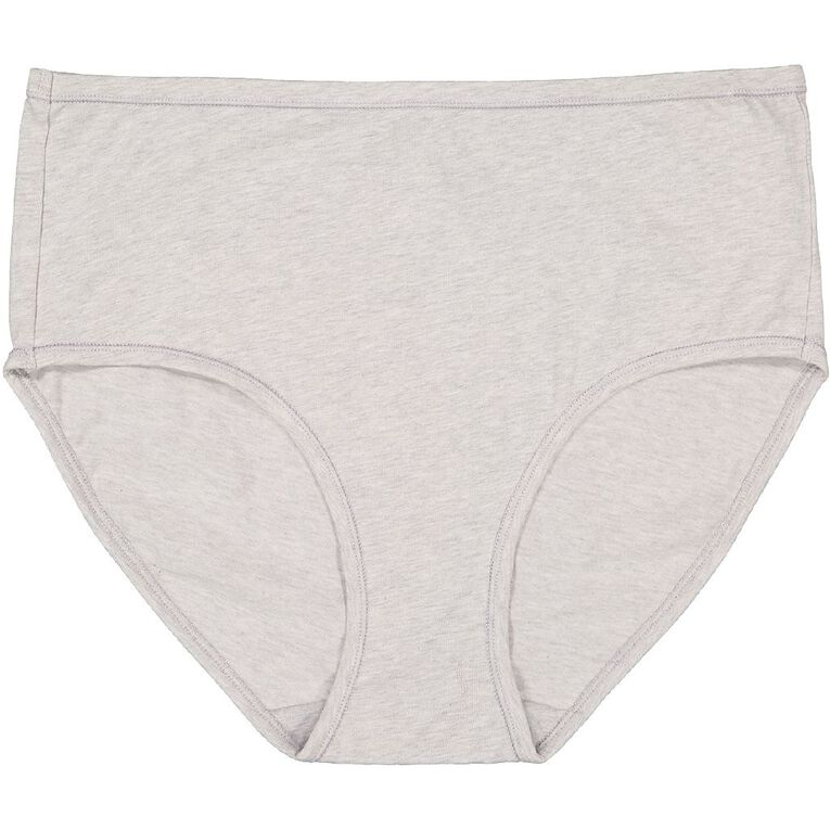 H&H Women's Cotton Comfort Full Briefs, Grey, hi-res