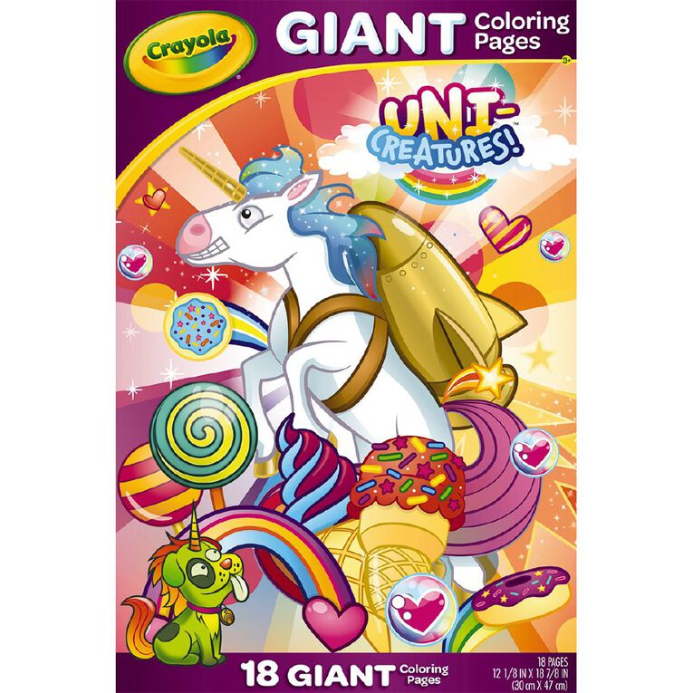 Crayola Giant Colouring Pages Uni-Creatures, , hi-res