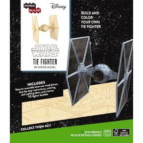 Star Wars Incredibuilds Tie Fighter 3D Wooden Model