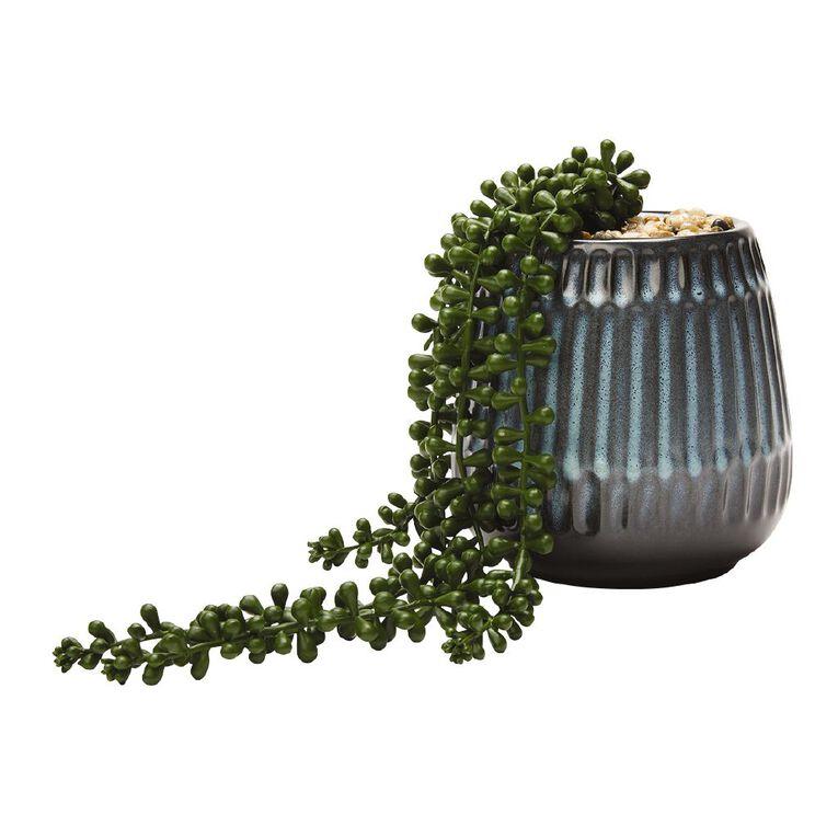 Living & Co Artificial Beaded Succulent Line 32cm Blue 36cm, , hi-res image number null