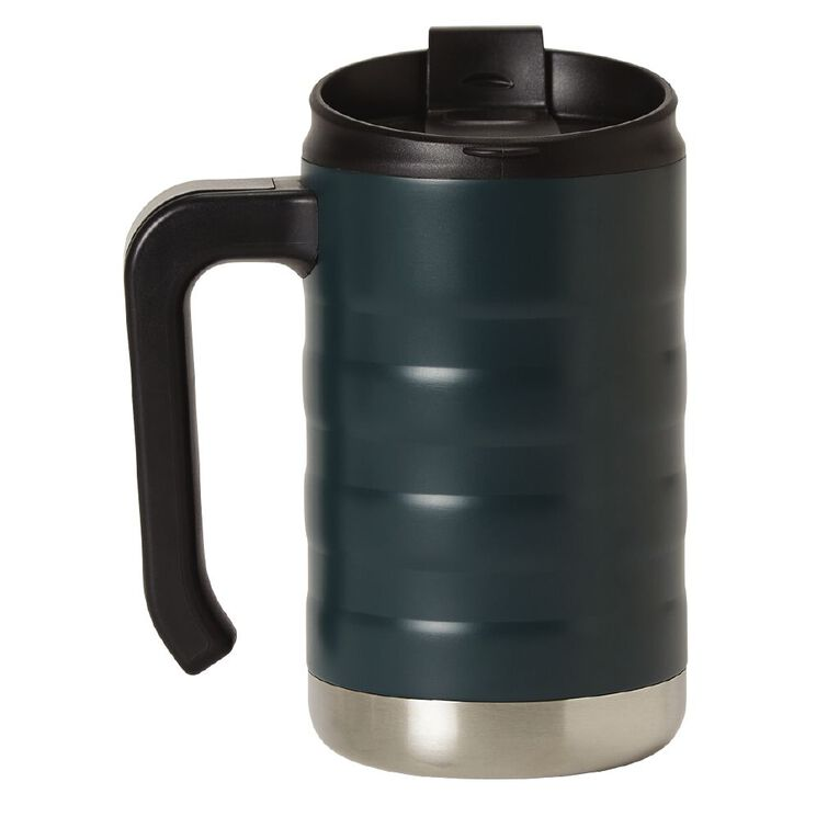 Living & Co Living & Co Stainless Steel Mug with Handle Green 470ml, , hi-res