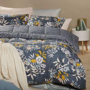 Living & Co Comforter Set 3 Piece Kathryn Green Queen