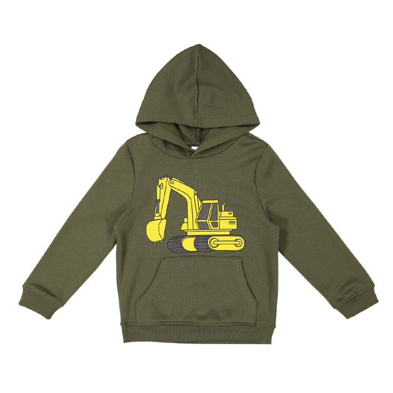Young Original Pull Over Print Hoodie Sweat, Green Mid, hi-res
