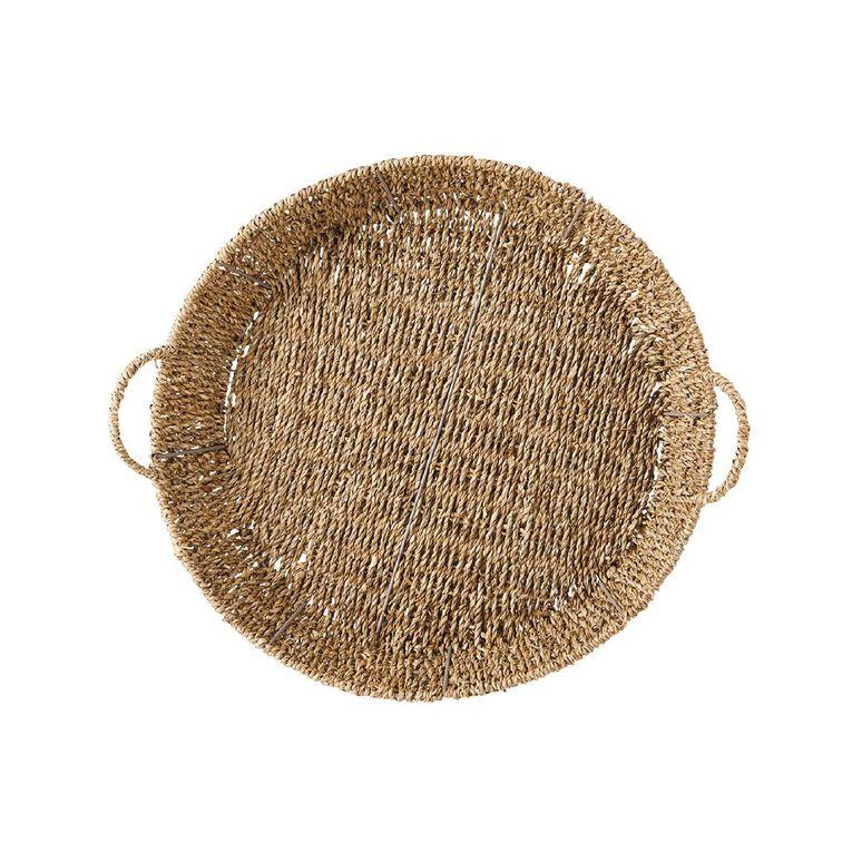 Living & Co Seagrass Tray Natural 43cm x 40cm x 12cm, , hi-res