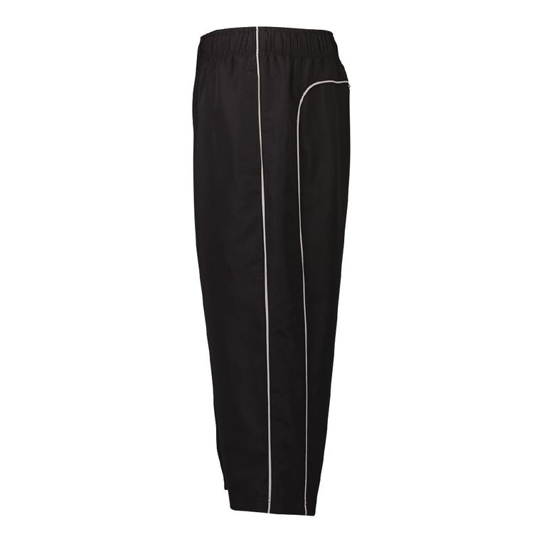 Active Intent Men's 3/4 Double Pipe Trackpants, Black/Silver, hi-res image number null